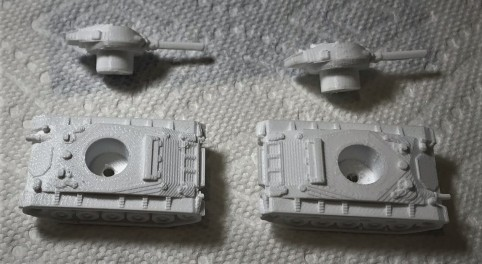 The 3D printed M24's after I added magnets
