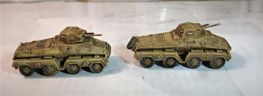 2 SdKfz 231's for North Africa
