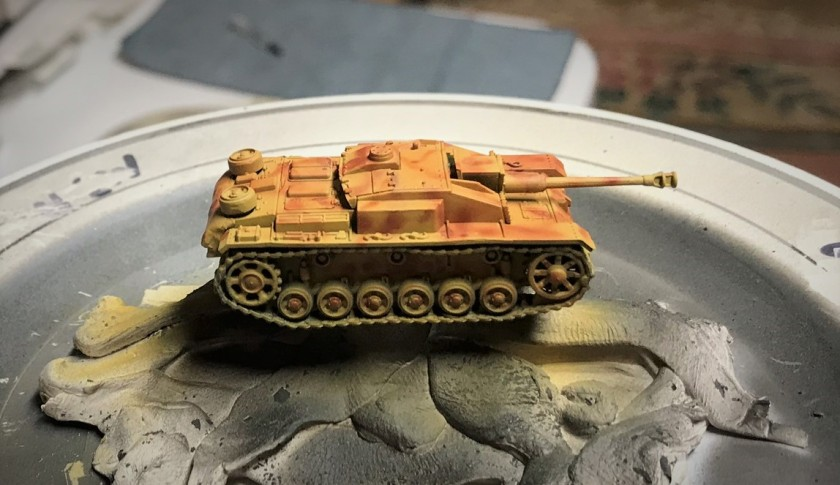 2 StuG F8 painted red