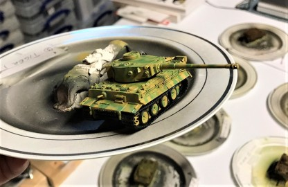Tiger I in two-toned camouflage pattern.