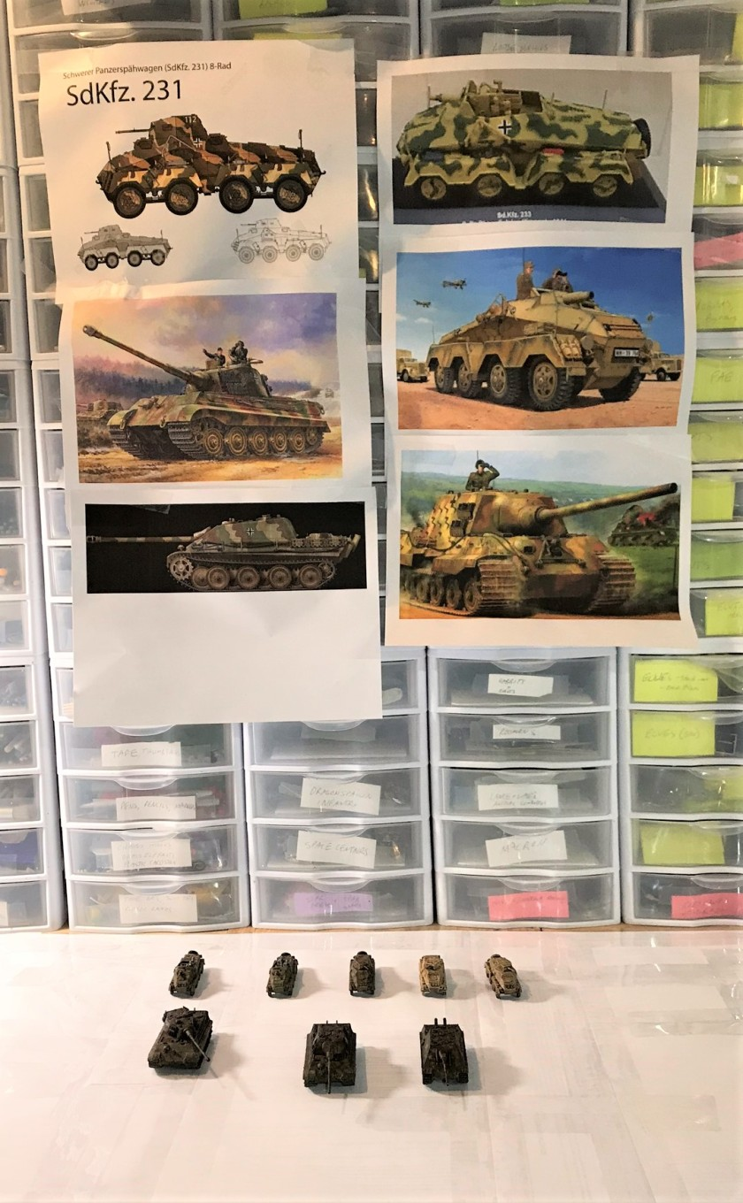 3 AFV's with painting models