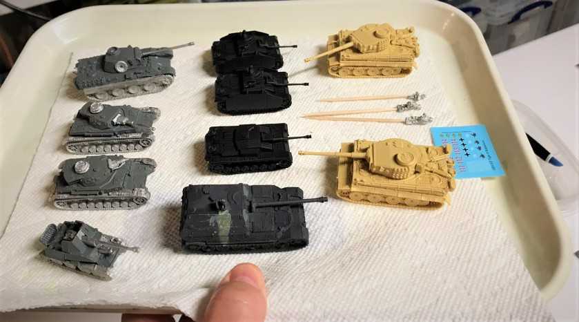 4 Assembled grouping less Pz Iv's and some StuG's