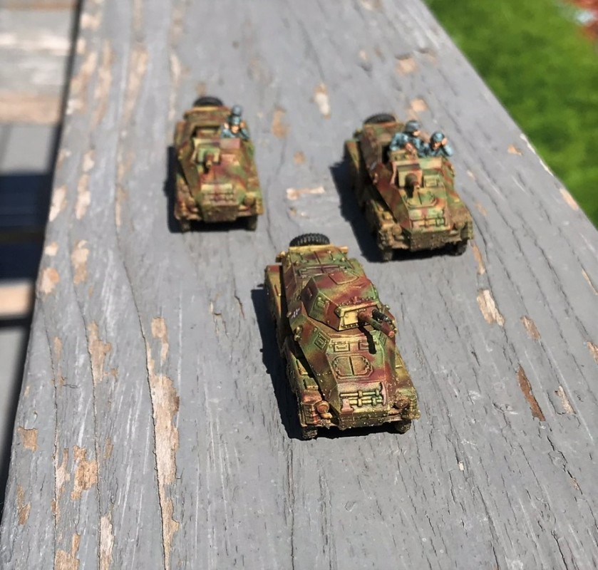 5 SdKfz 231 and 233 complete on deck