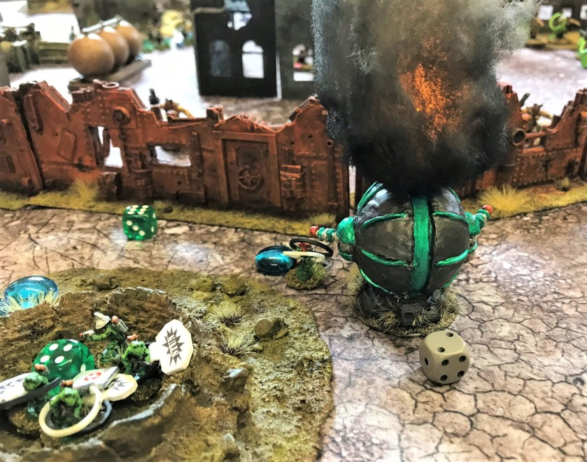 2 Chris uses Lt. Hemipteran and successfully destroys a Mark 1 with a satchel charge