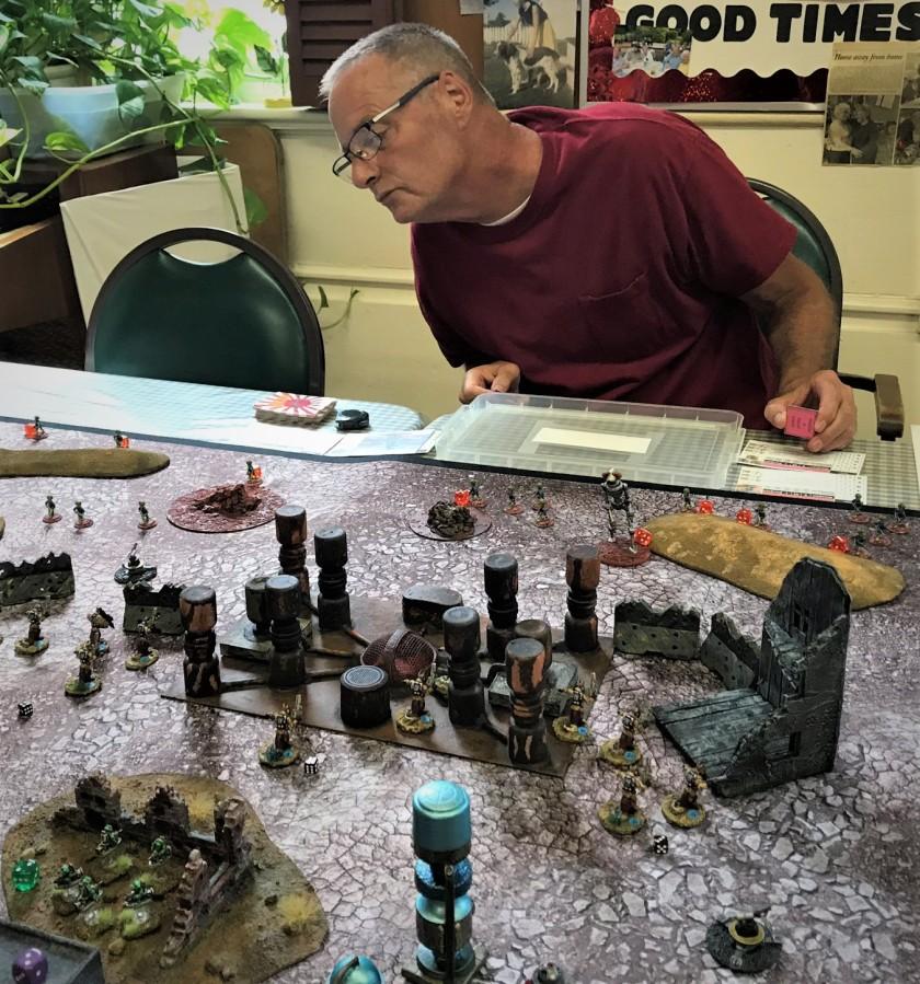 2 Mike Morgan moves up his Martians and Roberker