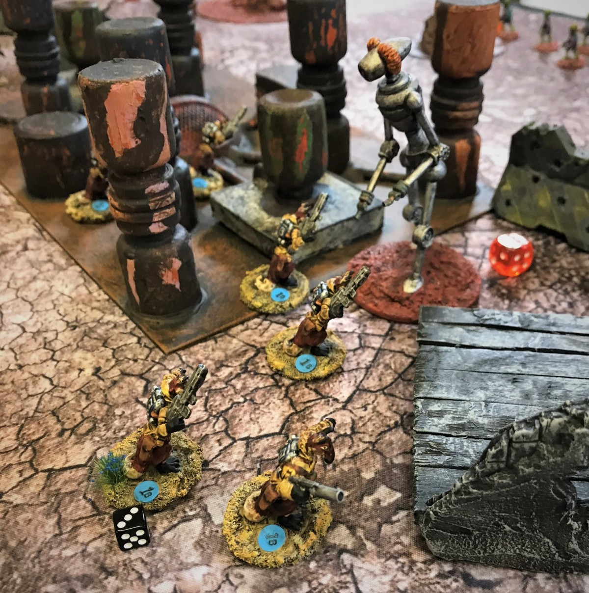 Warbots Stopped at Mass Pikemen