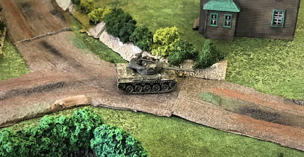 11 M18 Hellcat moves up to help British