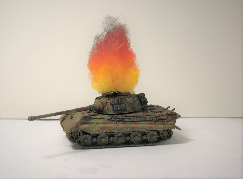 15 Tiger II burning