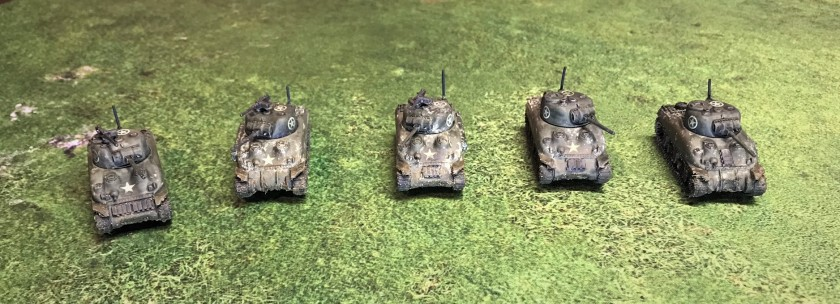 3 Shermans front shot