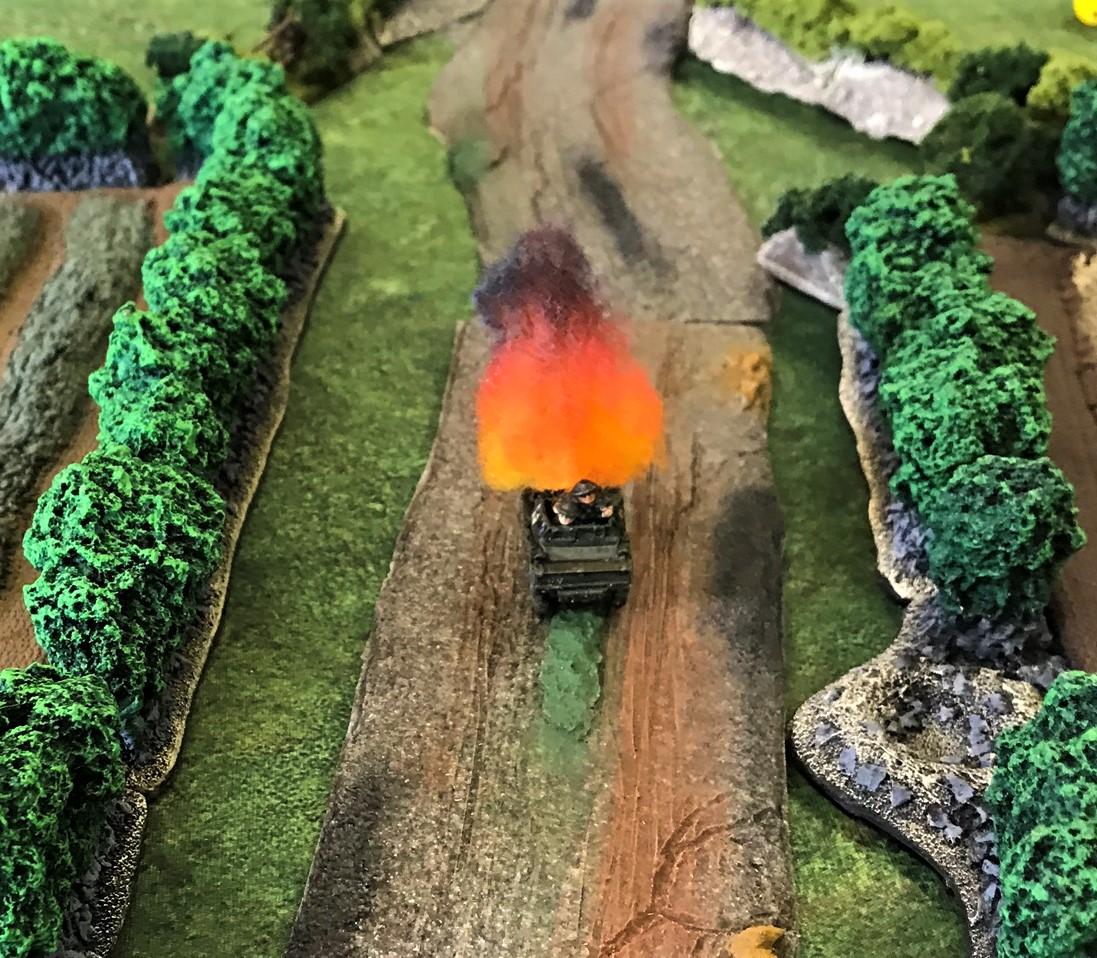 7 Dingo hit by Luftwaffe