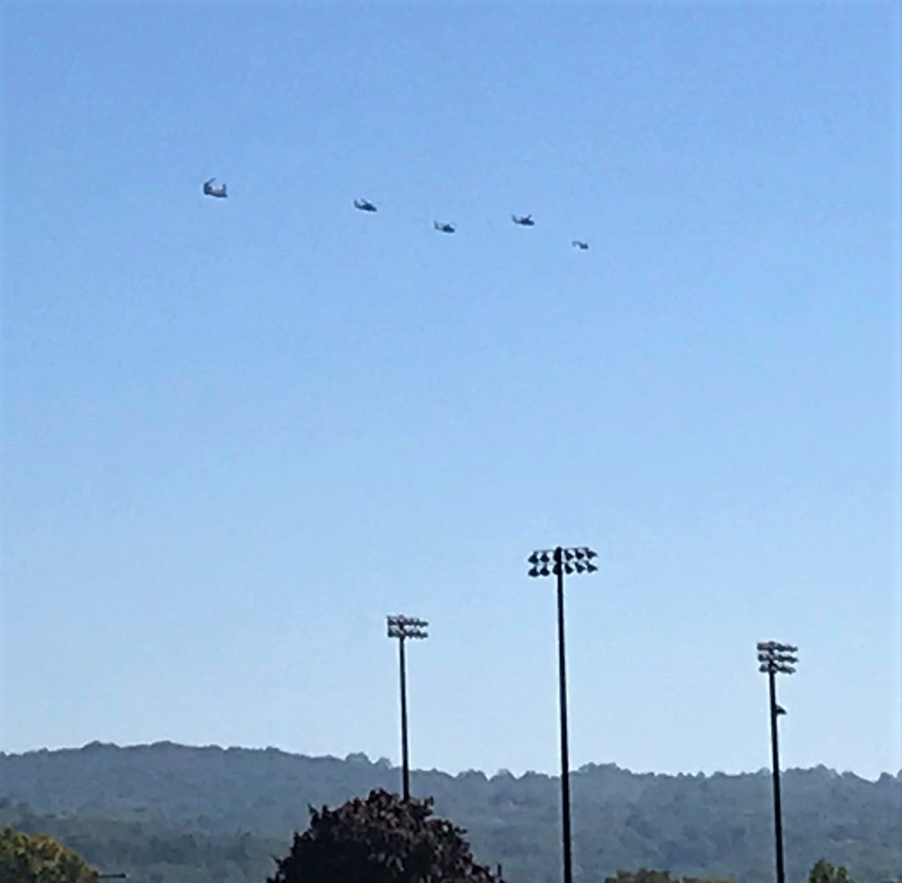 17a Helicopters departing