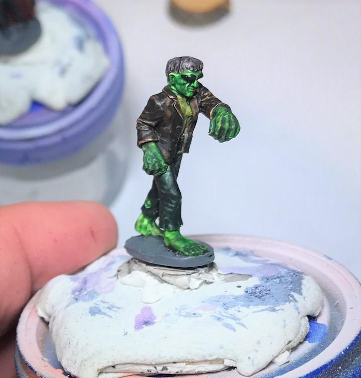 3 Frankenstein's Monster painted