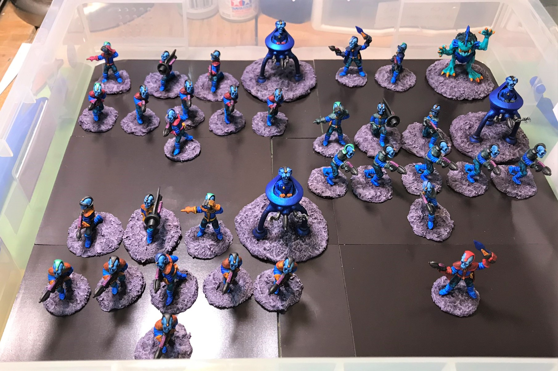 16 Retrovian Platoon complete in box