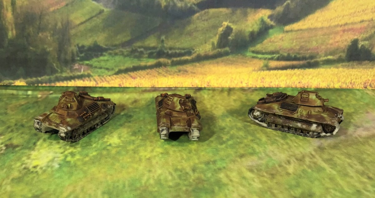 French FCM 36 tanks