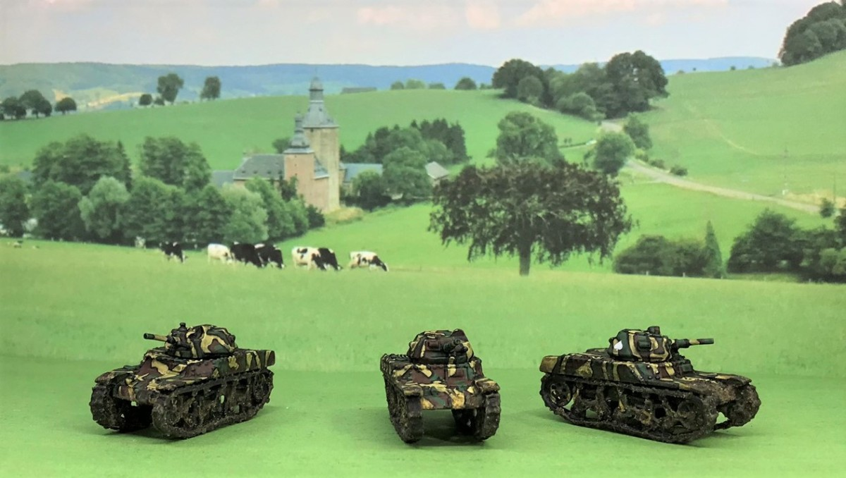 French Armor for the 80th Anniversary of the Battle of France: AMC 35 Cavalry Tanks; Char D2, R40, FT17 Infantry Tanks; and Panhard 178 Armored Cars