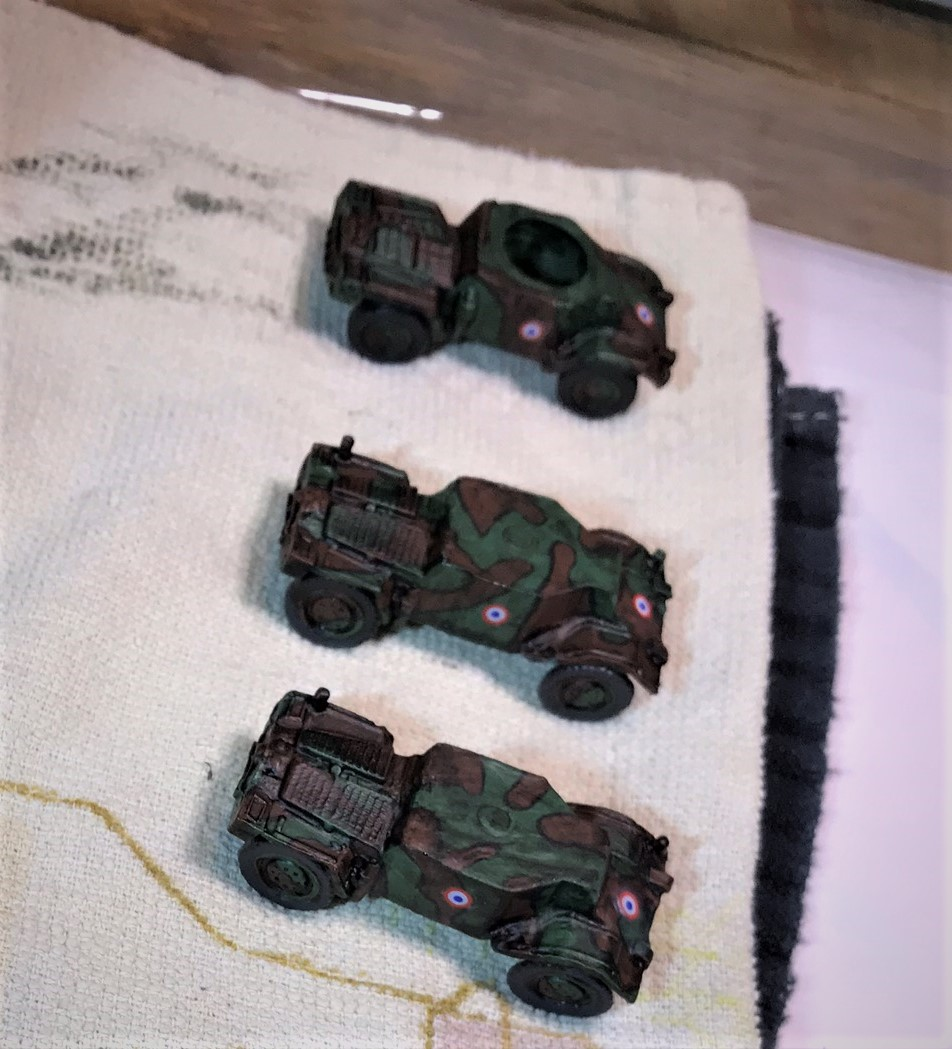 11 Panhards getting decals