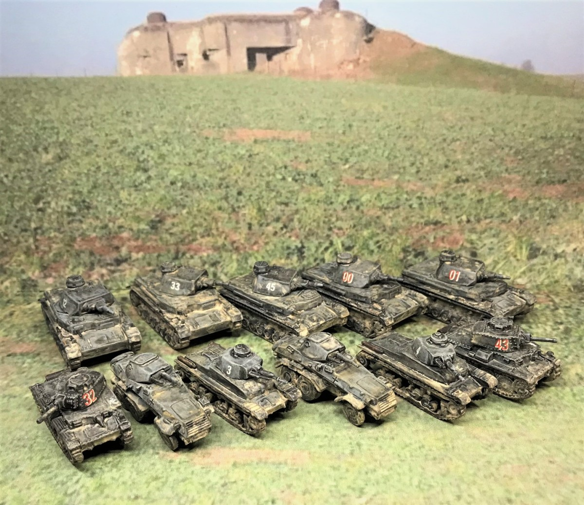 German Armor for the 80th Anniversary of the Battle of France: Panzer 35(t), Panzer 38(t), Panzer IVB, and Panzer IVD Tanks; and Sd.Kfz. 231 (6-rad) Armored Cars