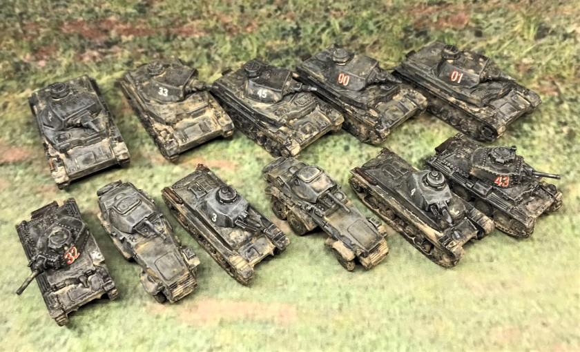 2 German armor group shot frontal top