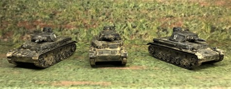 Frontal View of the Panzer IVB's.