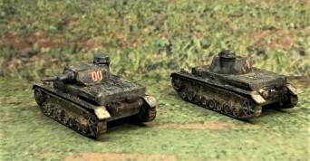Panzer IVD's, rear view.