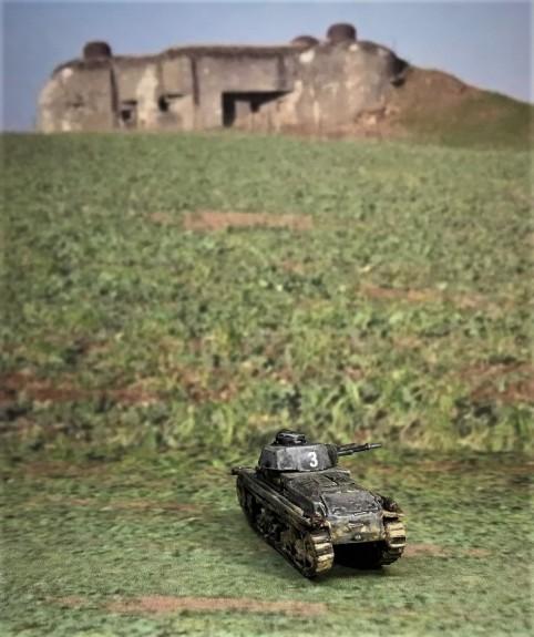 Panzer 35(t) rear view.