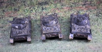 Rear view of the Panzer IVB's.