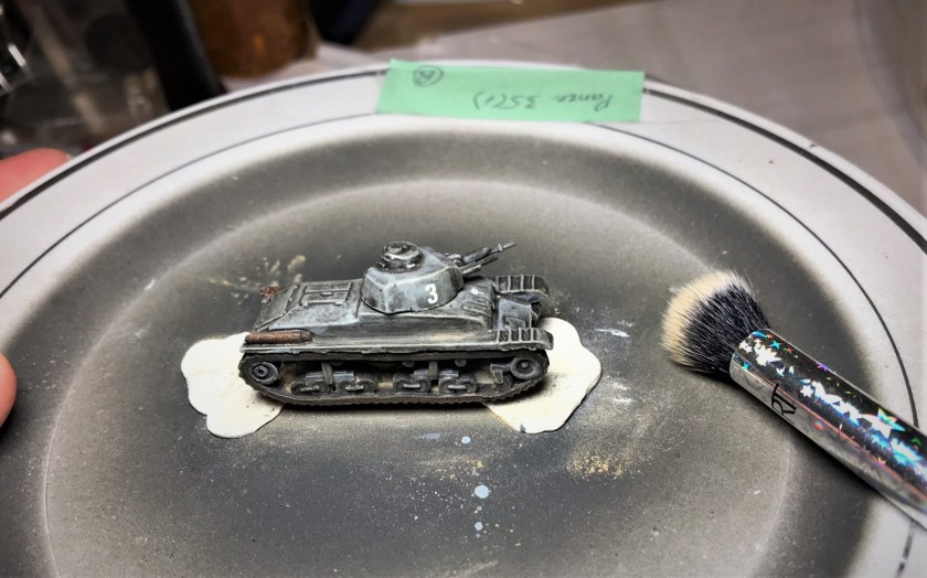 5 Panzer 35(t) in progress weathering