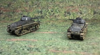 Both Panzer 35(t) models (rear view).