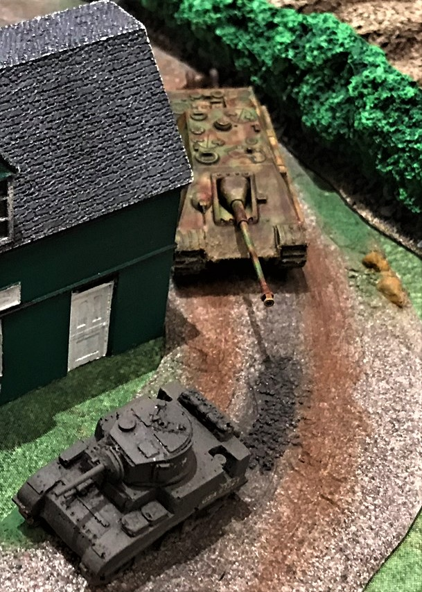 8 Jagdpanther hunts M5 Stuart