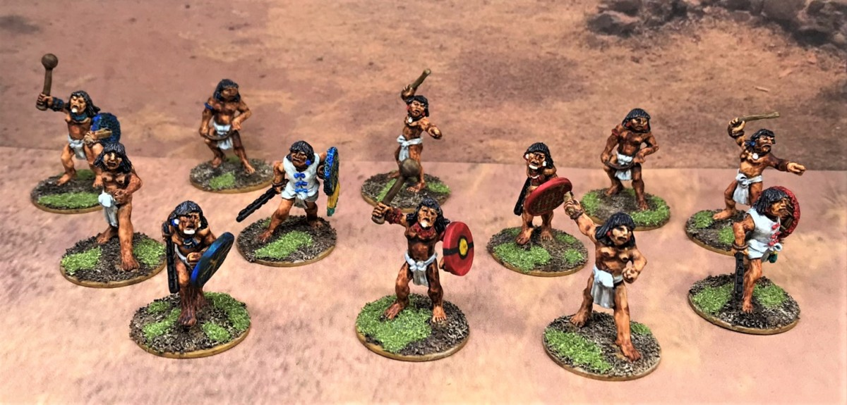 Aztec Novice Warriors and a few Frinx