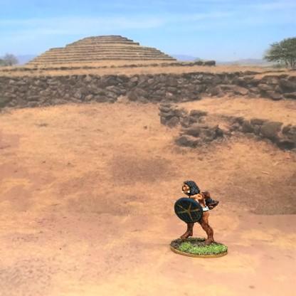 Novice w/blue shield + macuahuitl advancing