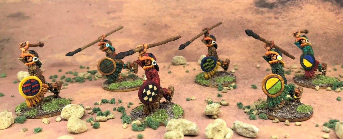 Aztec Eagle Warriors from Tin Soldier UK