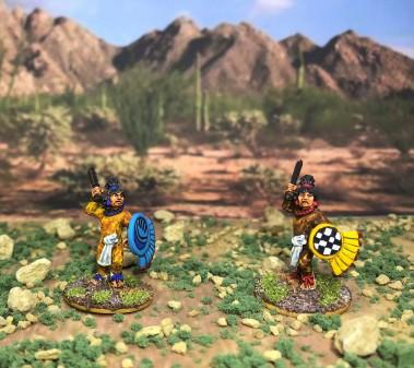 1 AZ023 Warrior 1 macuahuitl front