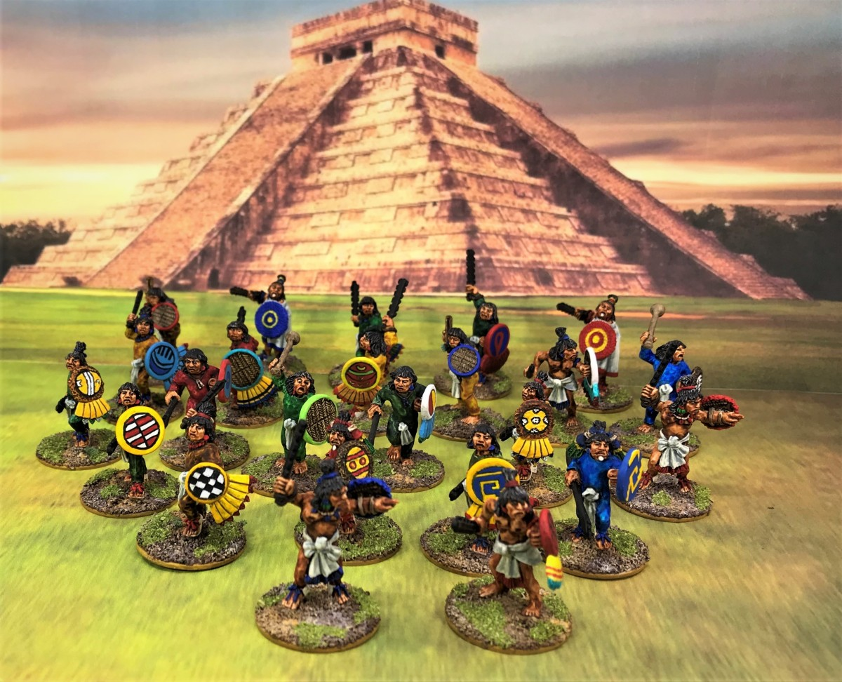 Doubling Down – Aztec Veteran Warriors from Wargames Foundry