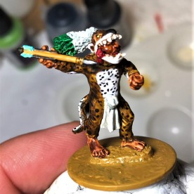 WF Jaguar Warrior JA8 with atlatl - this was a conversion