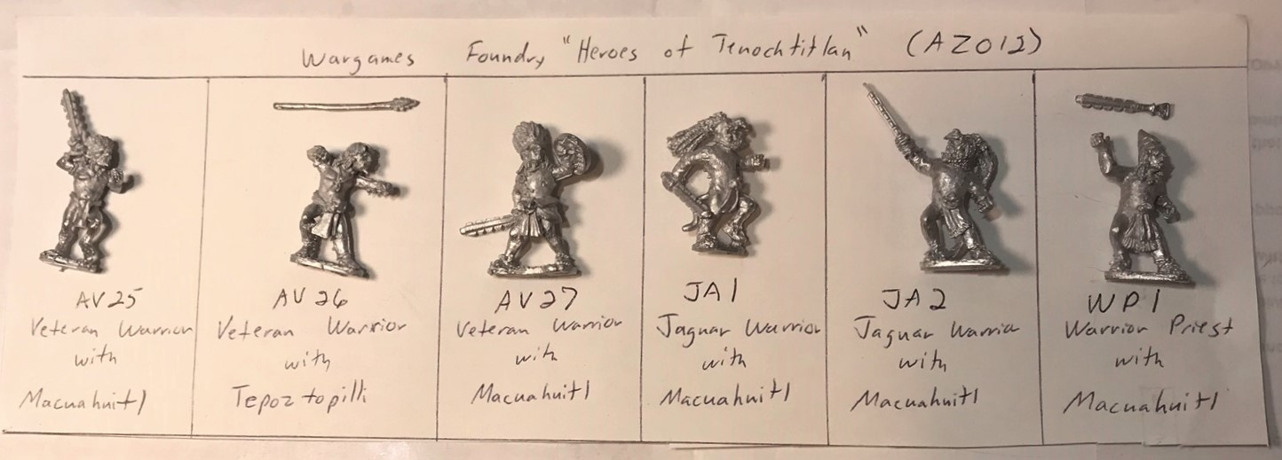 2 AZ012 Heroes of Tenochtitlan (Wargames Foundry) plan