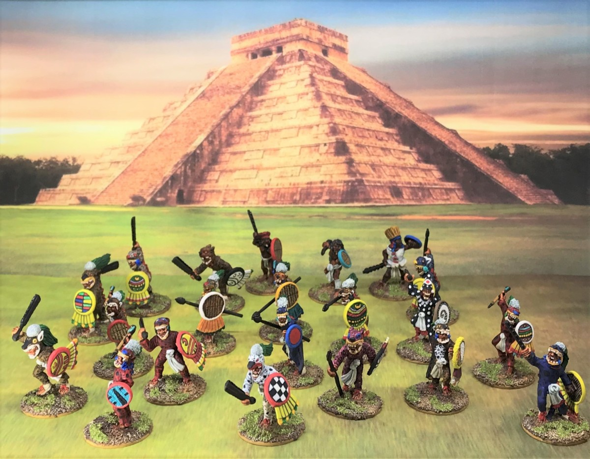 A June and July Jaguar Warrior Frenzy (plus some Aztec Veterans and a Warrior Priest to Boot)