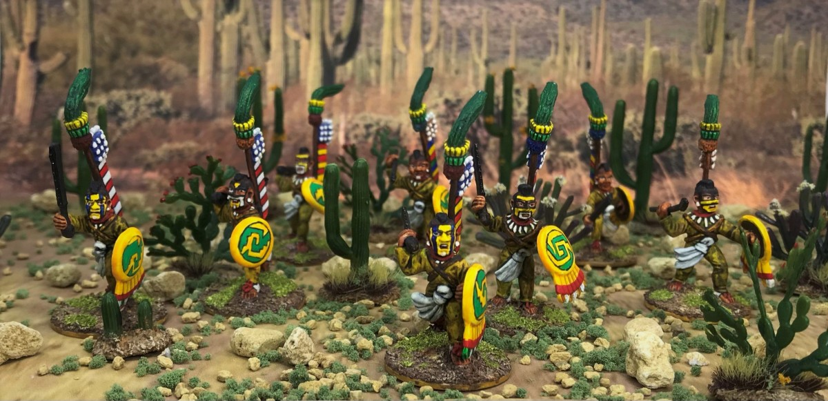 Aztec Shock Troops – Cuachic Warriors aka The Shorn Ones