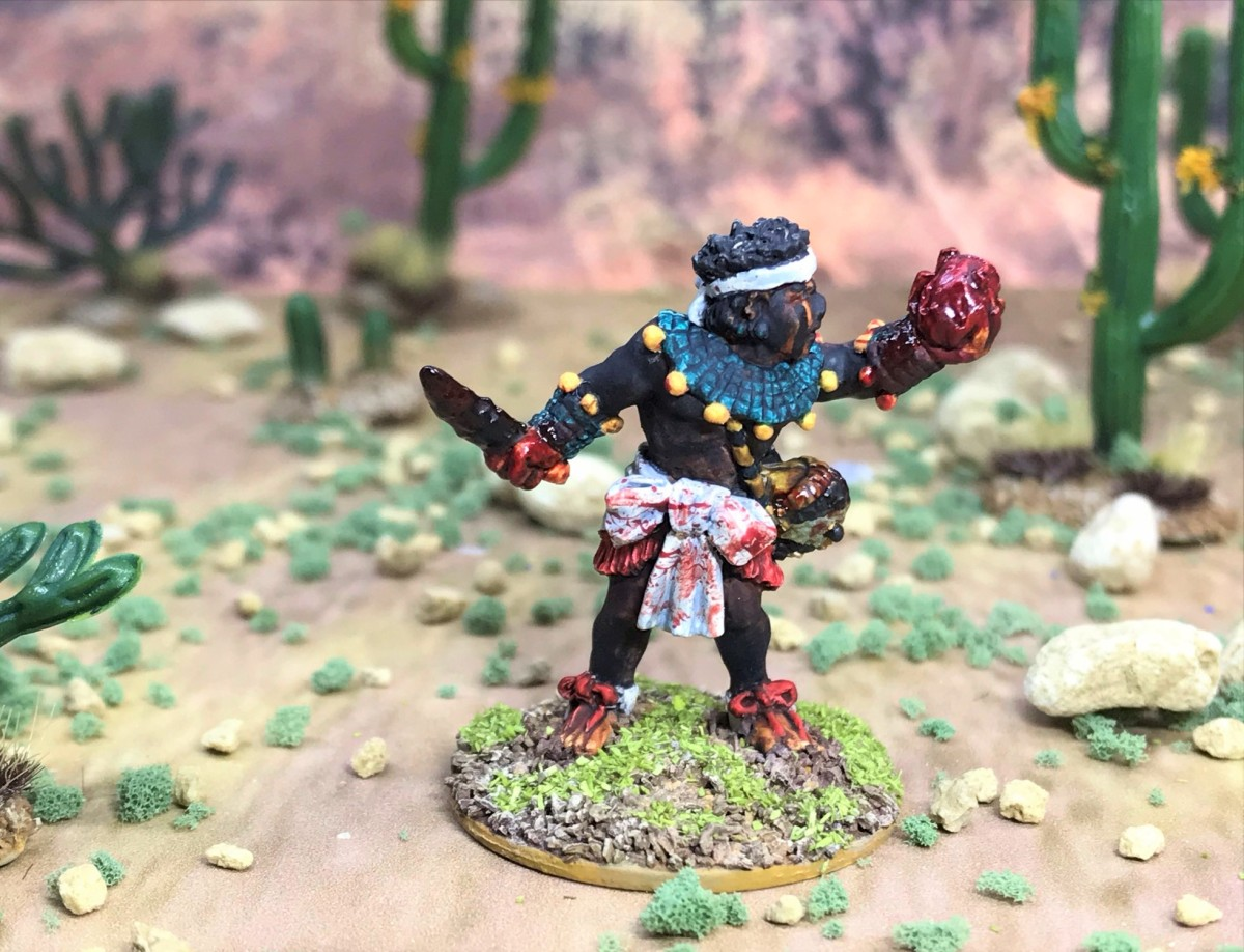 Tloxtoxl and the Priests of the Great Temple, Wargames Foundry AZ021