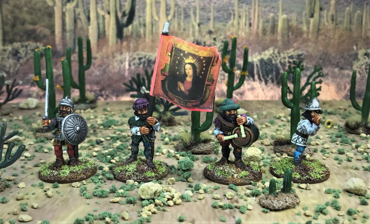 Conquistador Foot Command, Crossbowmen, and a Couple of Officers