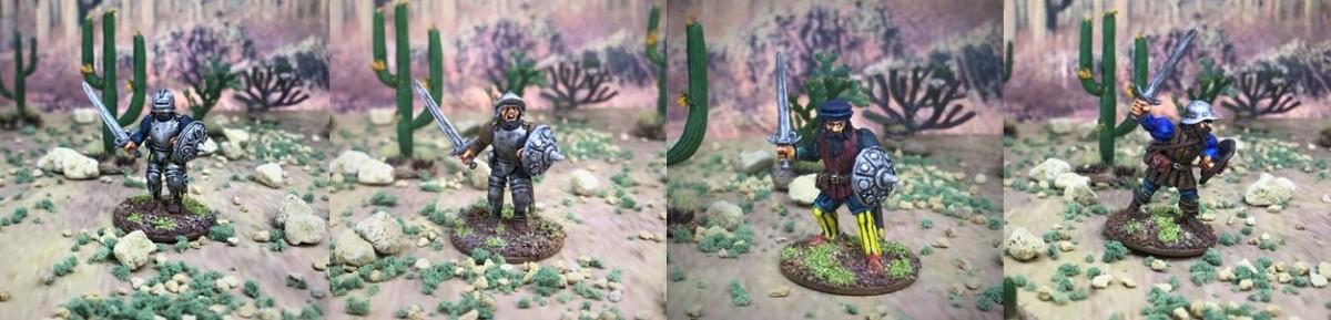 Conquistador Sword and Buckler Men (WargamesFoundry)