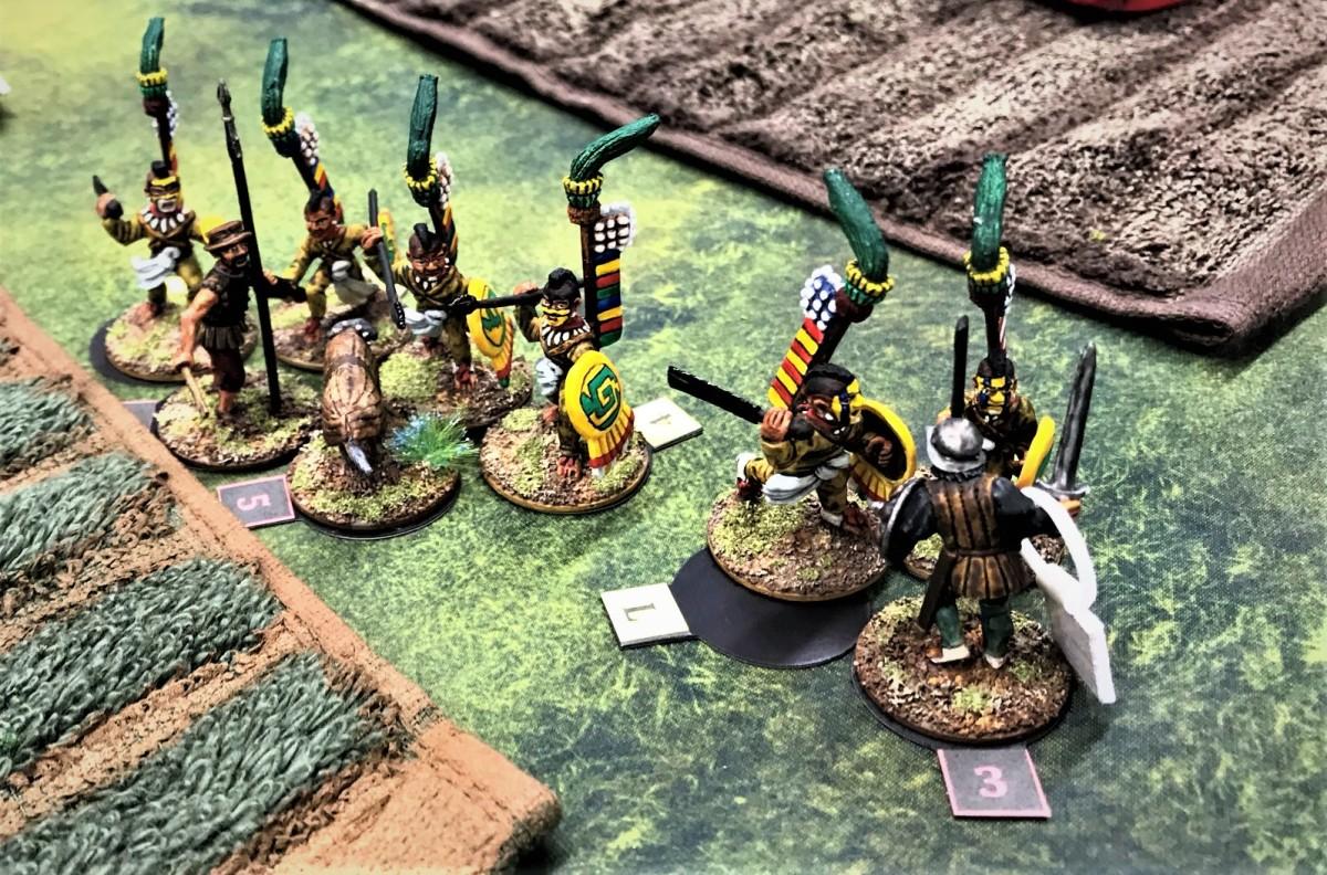 Aztec Raid – Mass Pikemen Gaming Session June 5,2021